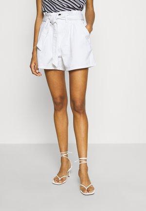 NORA - Denim shorts - ecru