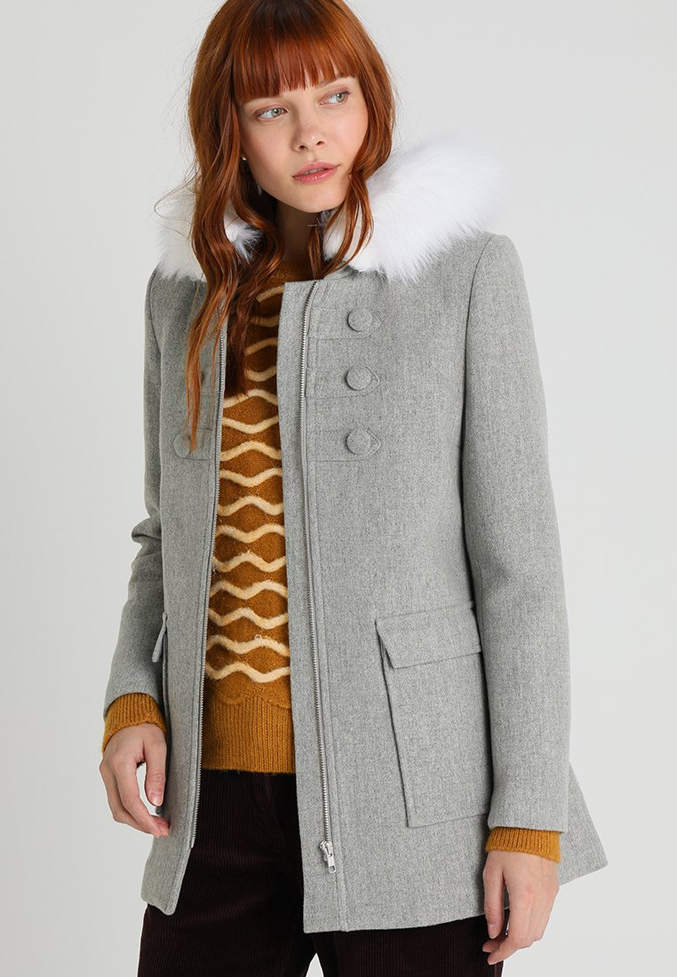 NAF NAF - AZALI - Cappotto corto - gris chine