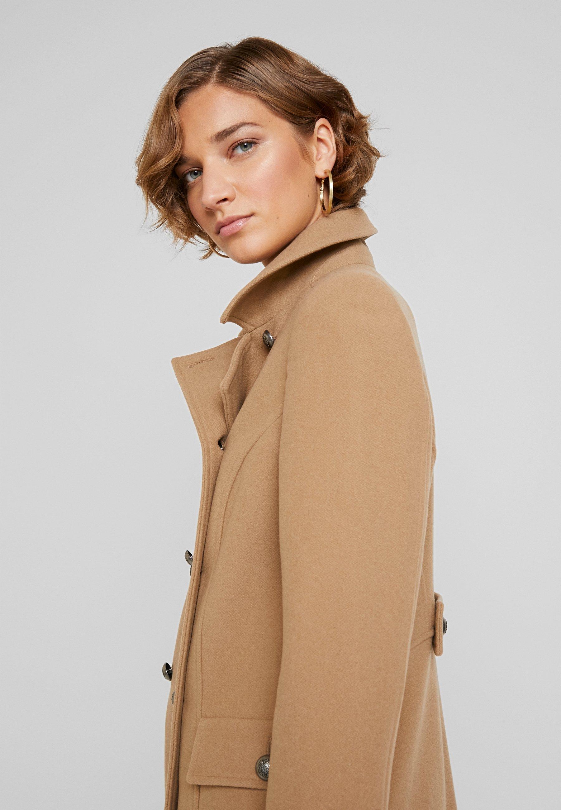 NAF NAF AGREY - Płaszcz wełniany /Płaszcz klasyczny - camel