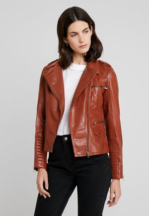 CUBA - Leather jacket - fauve