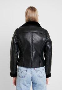 NAF NAF - CLAVA - Leather jacket - noir - 2