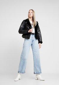 NAF NAF - CLAVA - Leather jacket - noir - 1