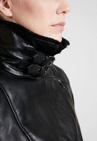 NAF NAF - CLAVA - Leather jacket - noir - 4