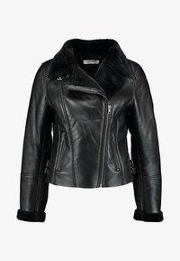 NAF NAF - CLAVA - Leather jacket - noir - 5