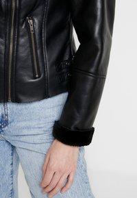 NAF NAF - CLAVA - Leather jacket - noir - 6