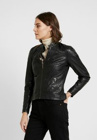 NAF NAF - CLIM - Leather jacket - black - 0