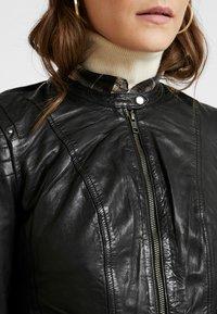 NAF NAF - CLIM - Leather jacket - black - 5