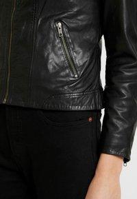 NAF NAF - CLIM - Leather jacket - black - 3