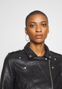 NAF NAF - CETNIC - Leather jacket - noir - 3