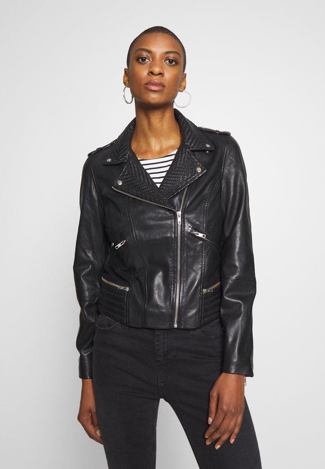 CETNIC - Veste en cuir - noir