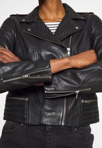 NAF NAF - CETNIC - Leather jacket - noir