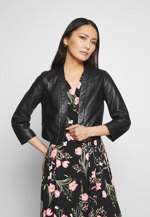CENORA - Kožená bunda - noir