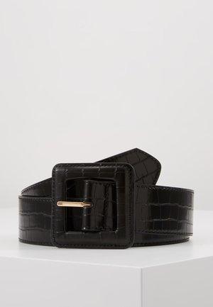 CROCO - Ceinture taille haute - noir