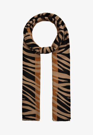Scarf - tan/black