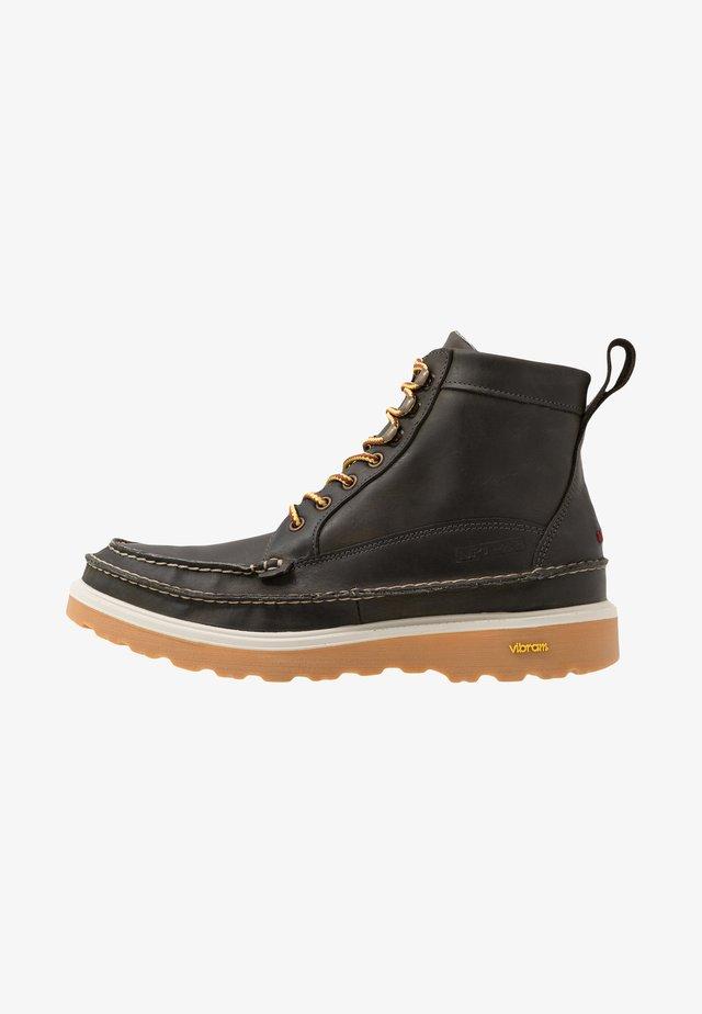 Šněrovací kotníkové boty - dark olive