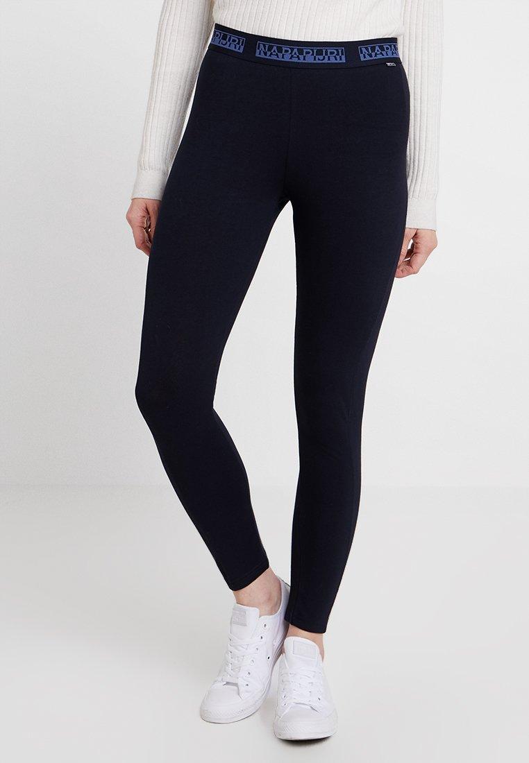 Napapijri - MALME - Leggings - Trousers - blu marine