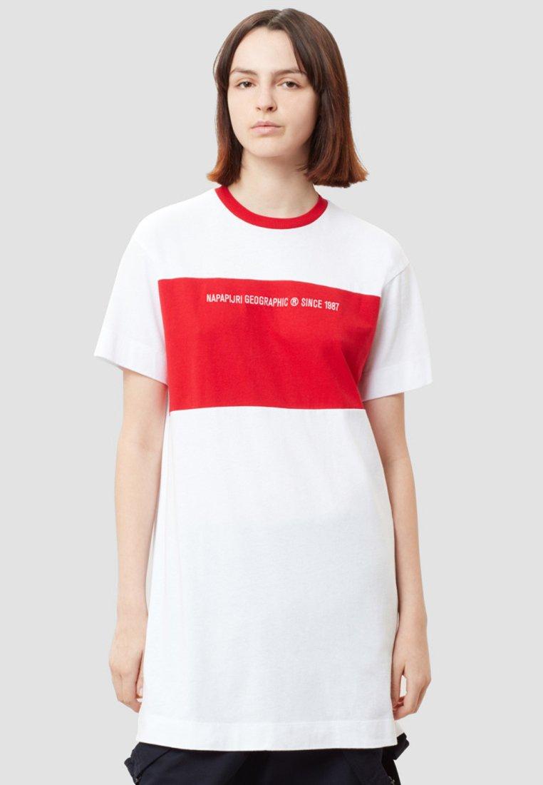 Napapijri - SAIT  - T-shirt con stampa - white