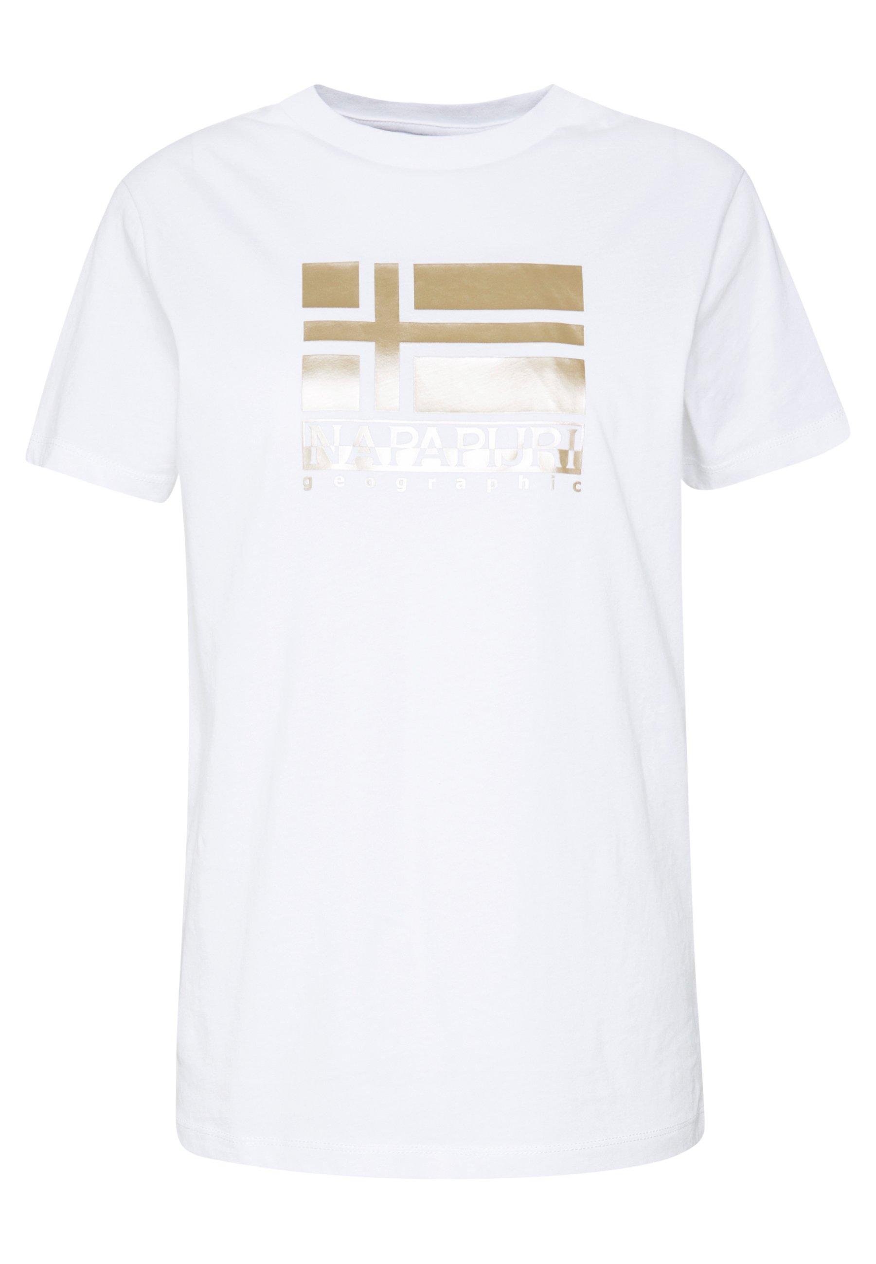 Napapijri SHYAMOLI - T-shirt z nadrukiem - bright white