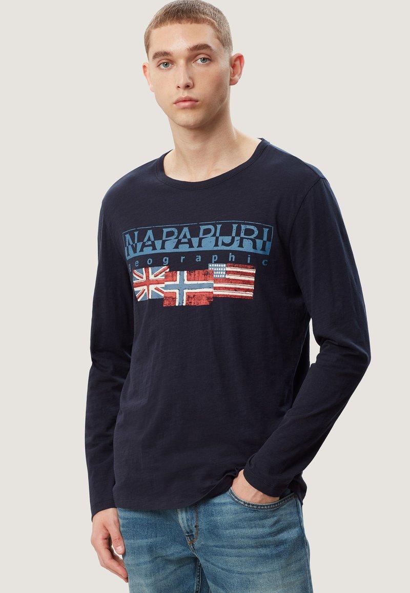 Napapijri - SCOTT - Maglietta a manica lunga - blue marine