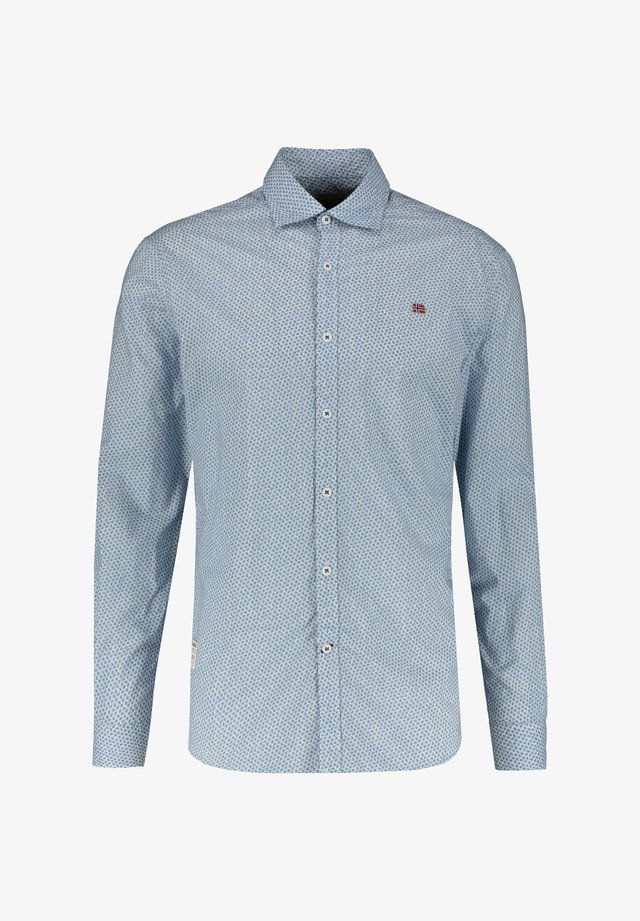 "NAPAPIJRI HERREN HEMD ""GRUARO"" SLIM FIT LANGARM - Shirt - light blue"