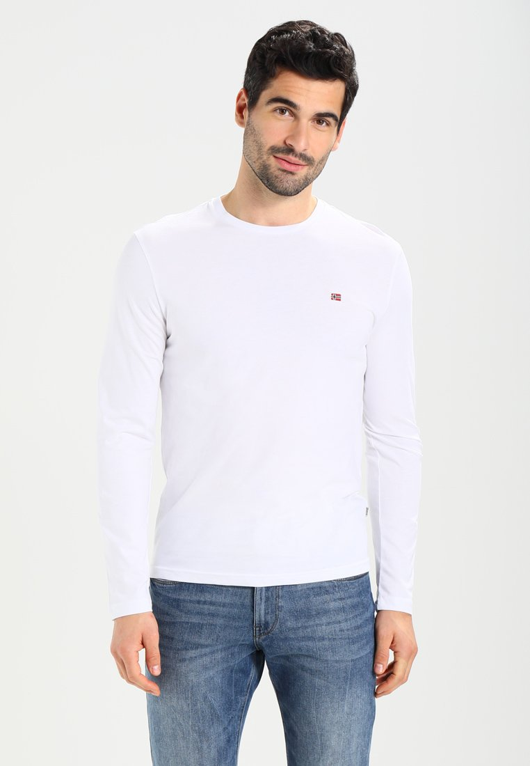 Napapijri - SENOS LS - Langærmede T-shirts - bright white