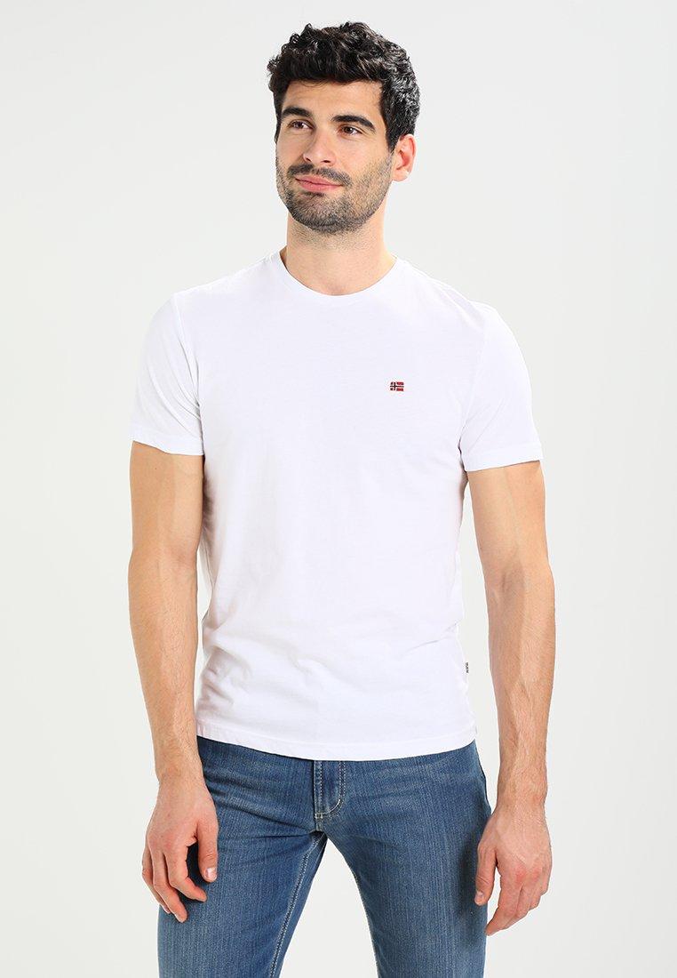 Napapijri - SENOS CREW - T-shirts basic - bright white