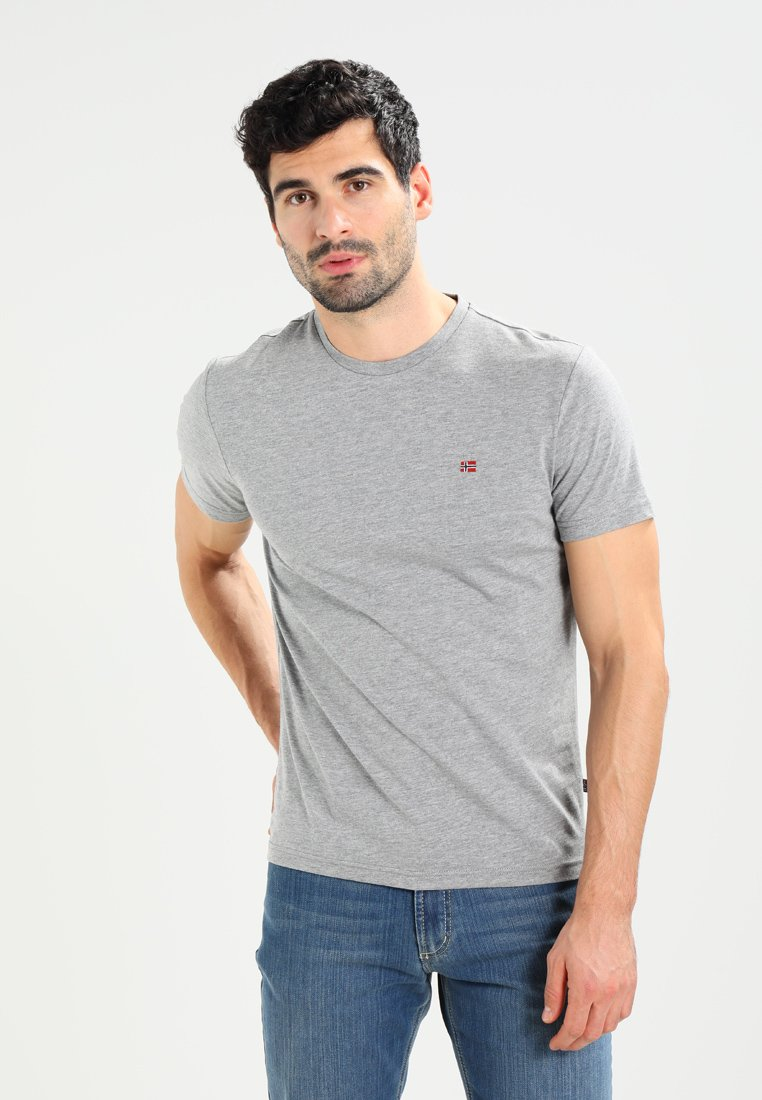 Napapijri - SENOS CREW - T-Shirt basic - med grey melange