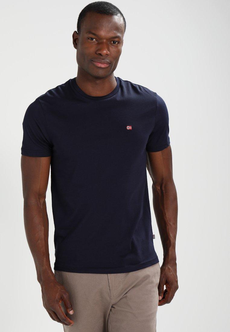 Napapijri - SENOS CREW - Basic T-shirt - blu marine