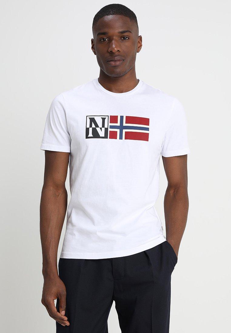 Napapijri - SAXY - T-Shirt print - bright white