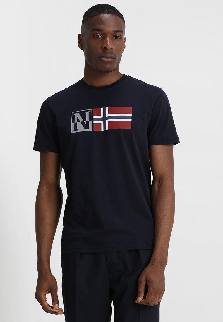 Napapijri - SAXY - Camiseta estampada - blue marine