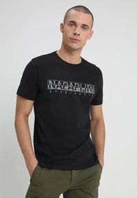 Napapijri - 3 PACK - T-shirt con stampa - black/white/navy - 1