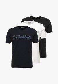 Napapijri - 3 PACK - T-shirt con stampa - black/white/navy - 6