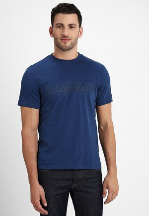 SEVORA - T-shirt imprimé - dark denim