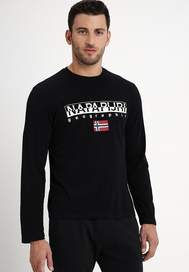 Napapijri - SGREEN - Long sleeved top - black