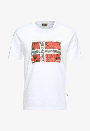SEITEM  - T-shirt imprimé - bright white