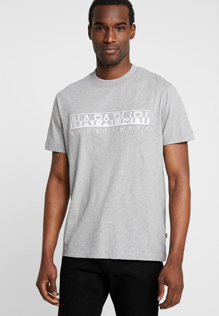 Napapijri - SERBER EMBRO - Camiseta estampada - grey