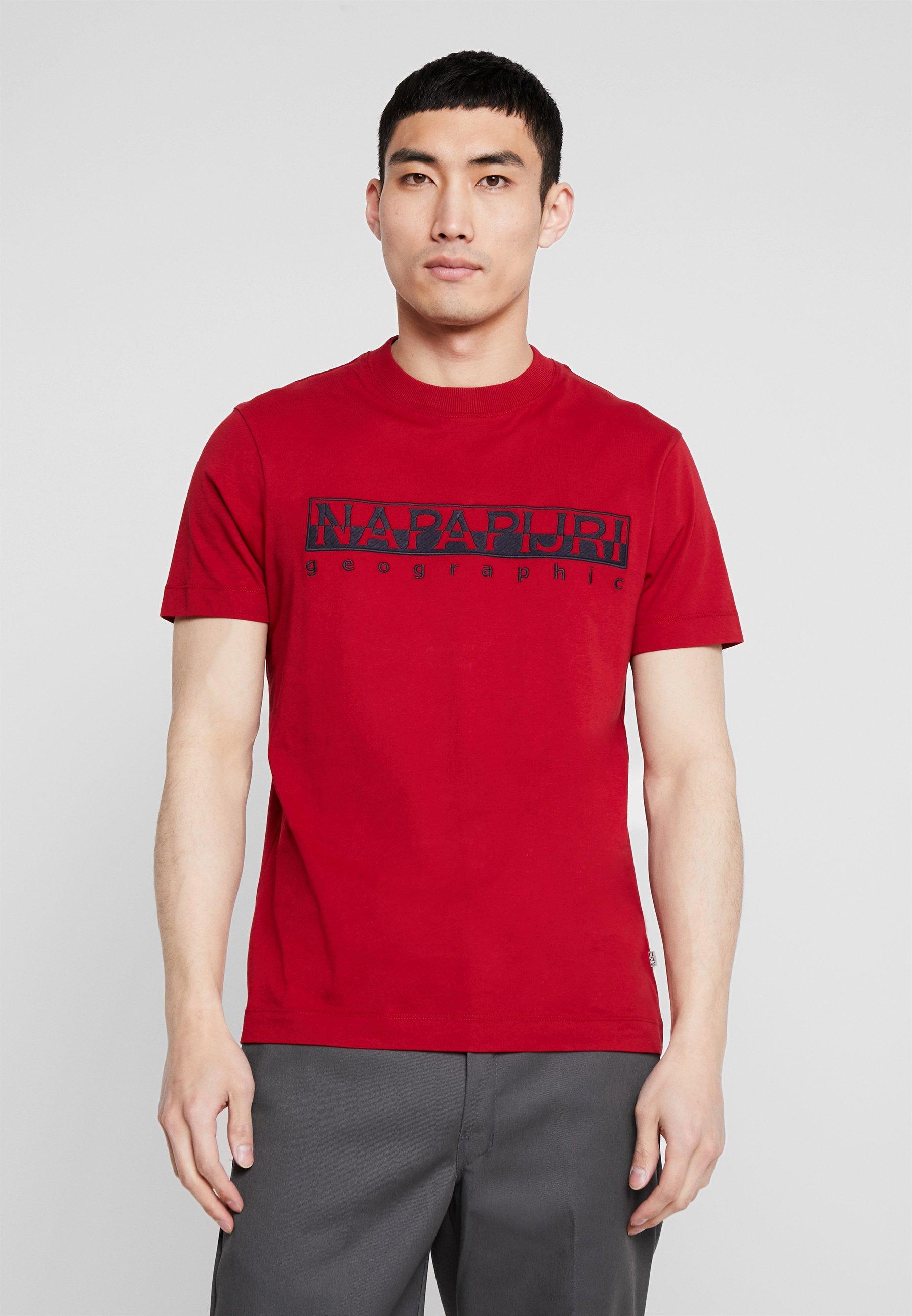 Serber shirt Imprimé EmbroT Red Napapijri lJFTK1c