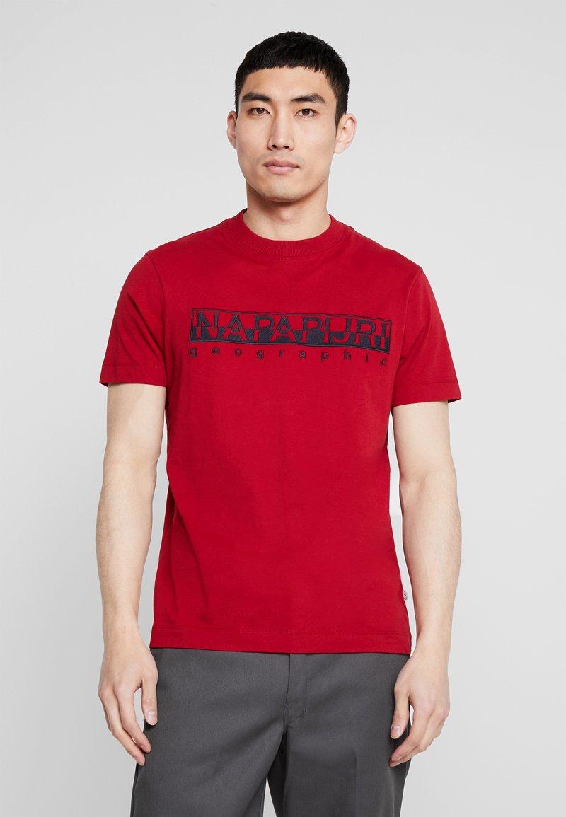 Napapijri - SERBER EMBRO - T-shirts print - red