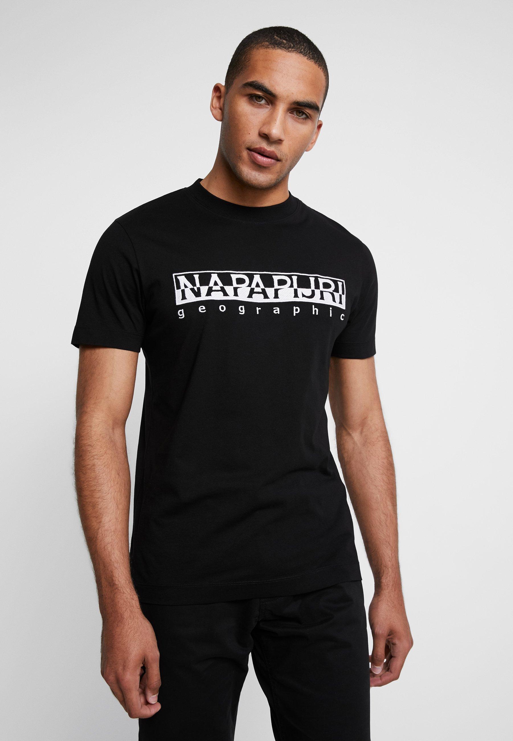 Black EmbroT shirt Napapijri Stampa Con J3uTKlF1c