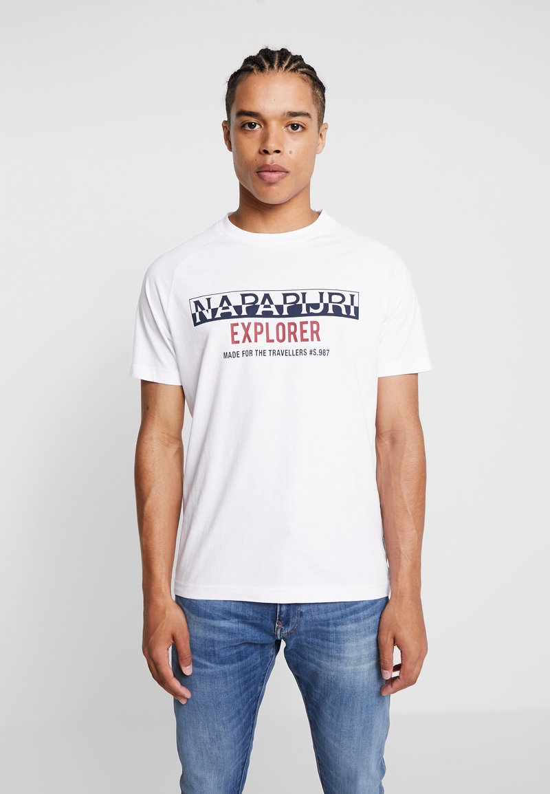 Napapijri - SOVES - T-shirts med print - bright white