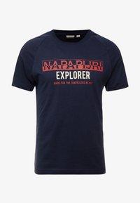 Napapijri - SOVES - T-shirt print - blu marine - 3