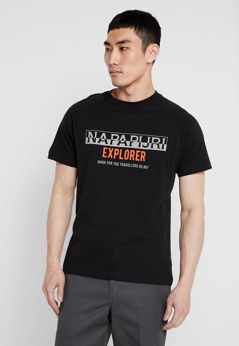 Napapijri - SOVES - T-shirts med print - black