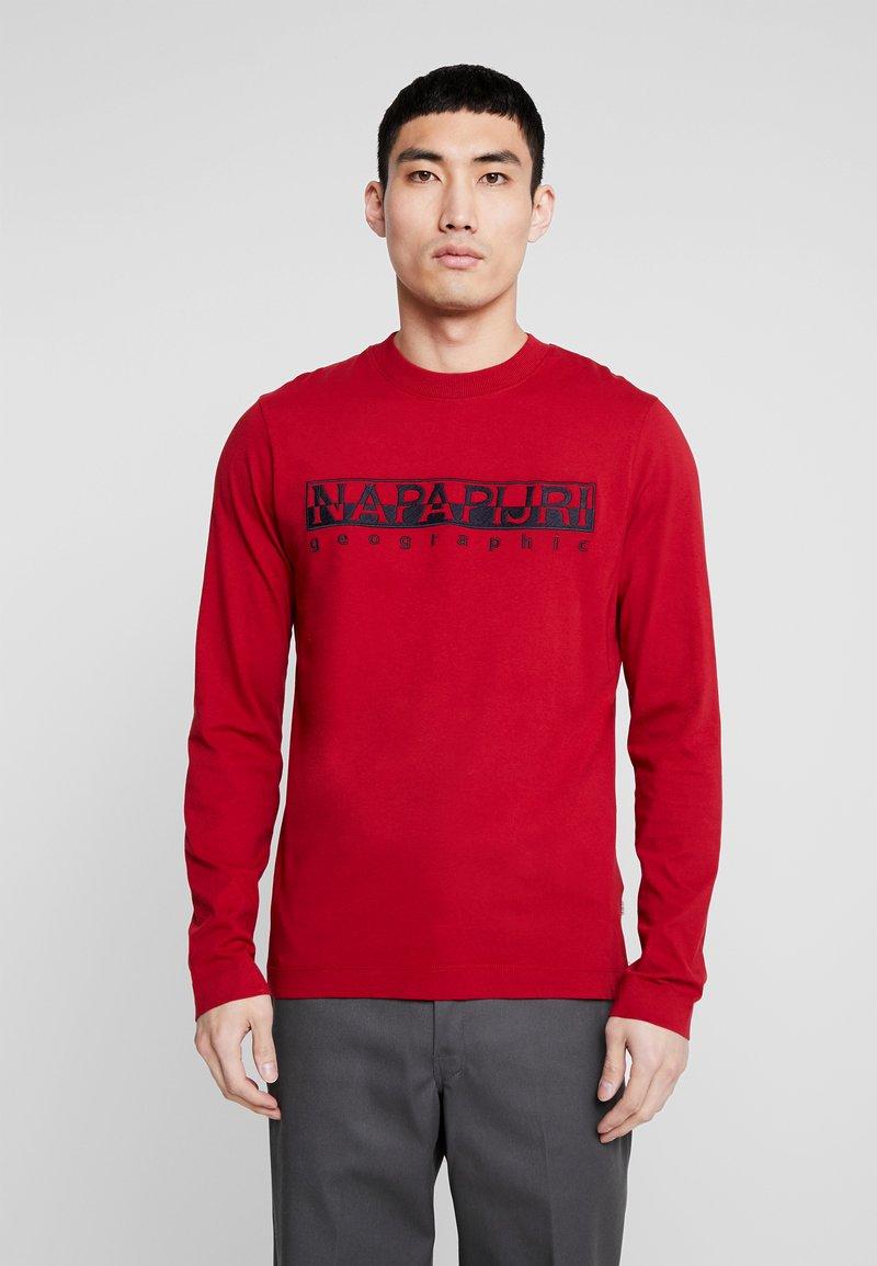 Napapijri - SERBER EMBRO - T-shirt à manches longues - red