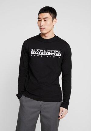 SERBER EMBRO - Langærmede T-shirts - black