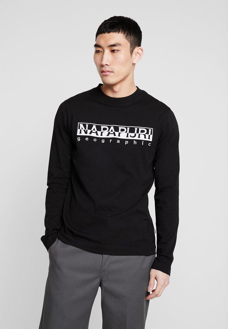 Napapijri - SERBER EMBRO - Camiseta de manga larga - black