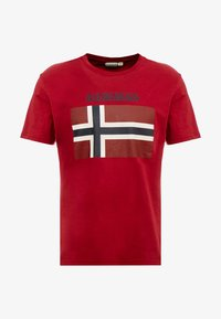 Napapijri - SAXY  - Camiseta estampada - rhubarb red - 4