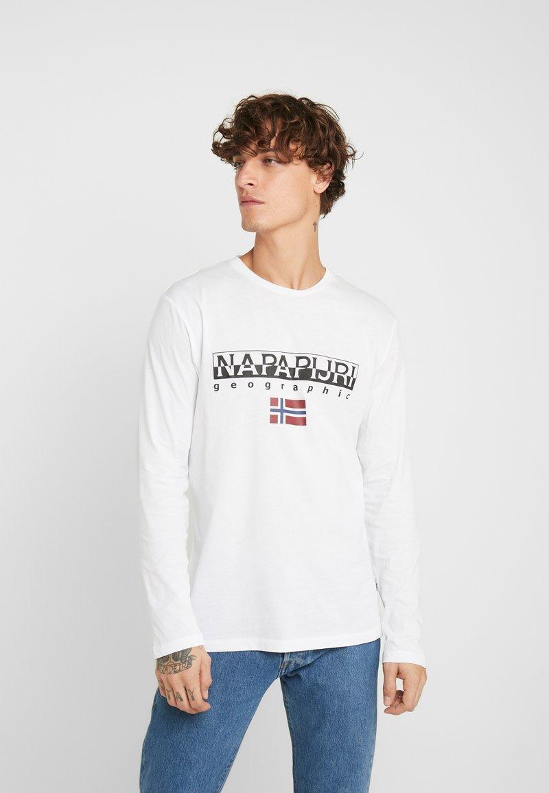 Napapijri - SGREEN LS  - Bluzka z długim rękawem - bright white