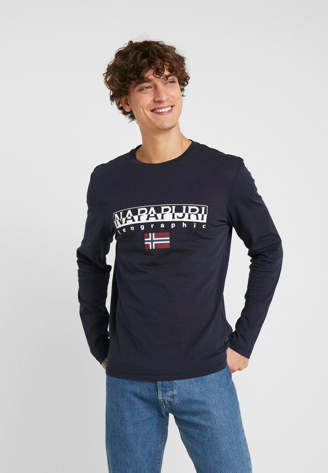 SGREEN LS  - Bluzka z długim rękawem - blu marine