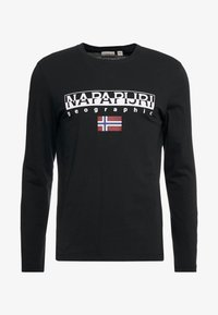 Napapijri - SGREEN LS  - Long sleeved top - black