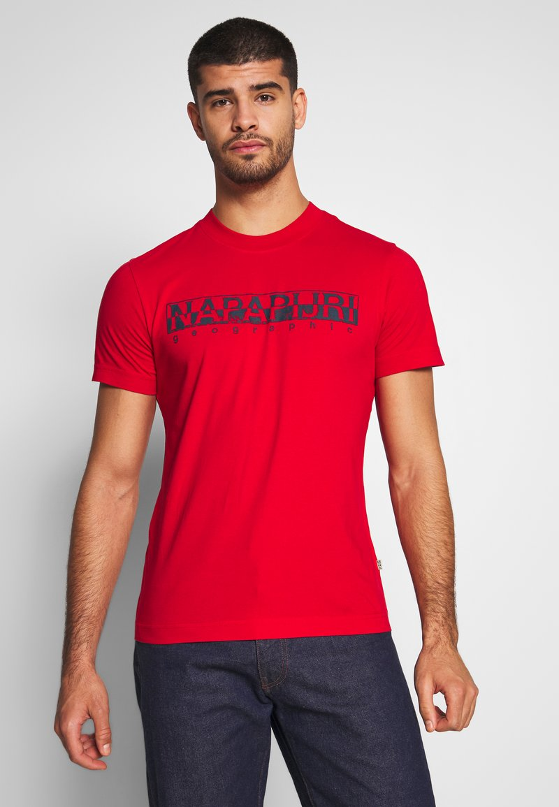 Napapijri - SOLANOS - Camiseta estampada - bright red